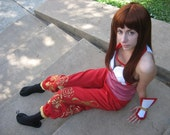 Kasumi Costume, Dead or Alive, Red and White Ninja Cosplay