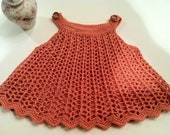 Baby Girl's Tunic Top Salmon Color SZ 12 mos - 2T