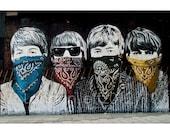 Mr Brainwash.. The beatles. street art. graffiti in London photography.photo print