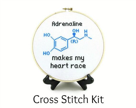 Adrenaline Molecule Cross Stitch KIT