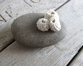 Crochet barnacle rock, a natural stone and crochet cotton paperweight, No.3