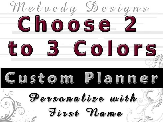 RESERVED for Ashley: Black and Tan Planner