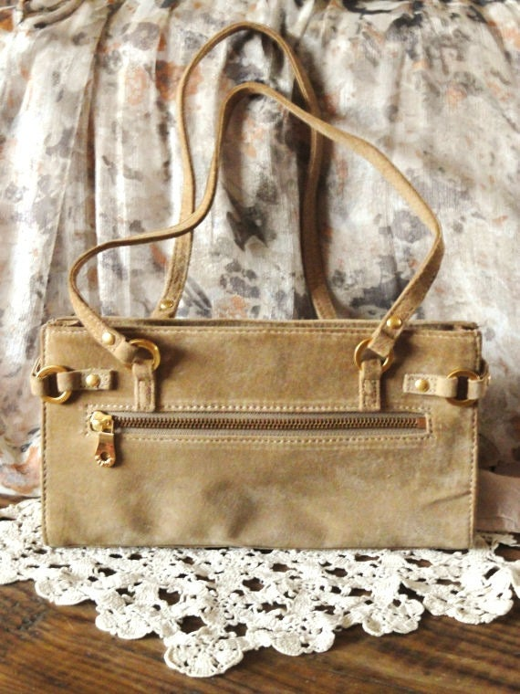 Vintage Purse, Suede Leather , Wilson Leather brand