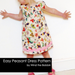 Peasant Dress Easy PDF Dress Pattern for Girls Age Newborn - 9 years