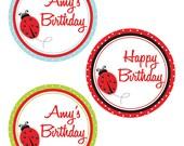 Ladybug Birthday - 4inch Circles. Printables By Invitation Only DIY