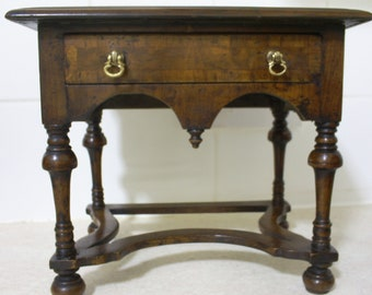 Miniature antique William & Mary walnut lowboy