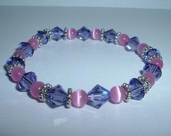 Princess Bracelet with Cat's Eye Beads