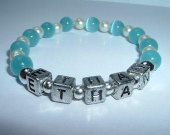 New Mom Bracelet with Baby Boy's name