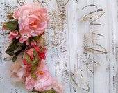 Shabby chic hand made wreath distressed metal recycled bed springs home decor Anita Spero