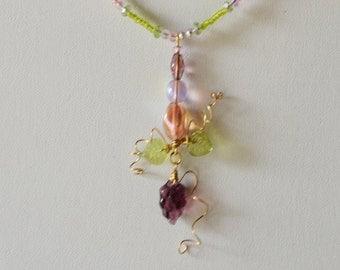 Springtime Fantasy 16 inch Chocker Necklace Set  FREE Shipping