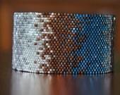 Variegated seed bead cuff