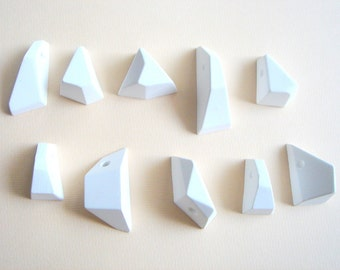 50 Geometric  Pendants Ready To Be Painted, Do it Yourself Geometric Necklace,Geometric Jewelry