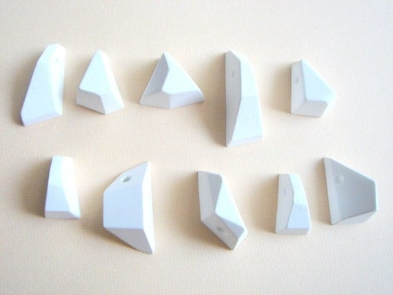 Geometric  Pendants Ready To Be Painted, Do it Yourself Geometric Necklace,Geometric Jewelry
