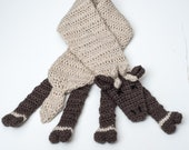 Crochet Reindeer Scarf