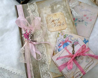1940's inspired Wedding Guest book