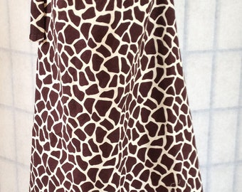 Brown Giraffe print Nursing cover