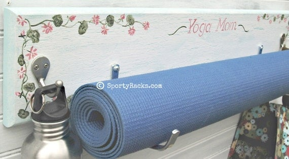 Yoga Exercise Mat Workout Gear Storage Hanger Wall Hook Sports