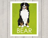 Bernese Mountain Dog Art Print - Custom Dog Art