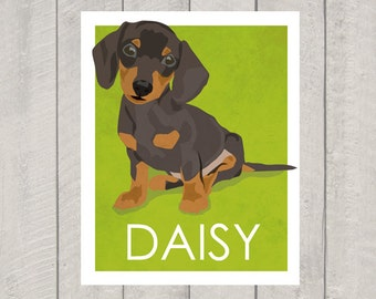 Dachshund Art Print - Custom Dog Art
