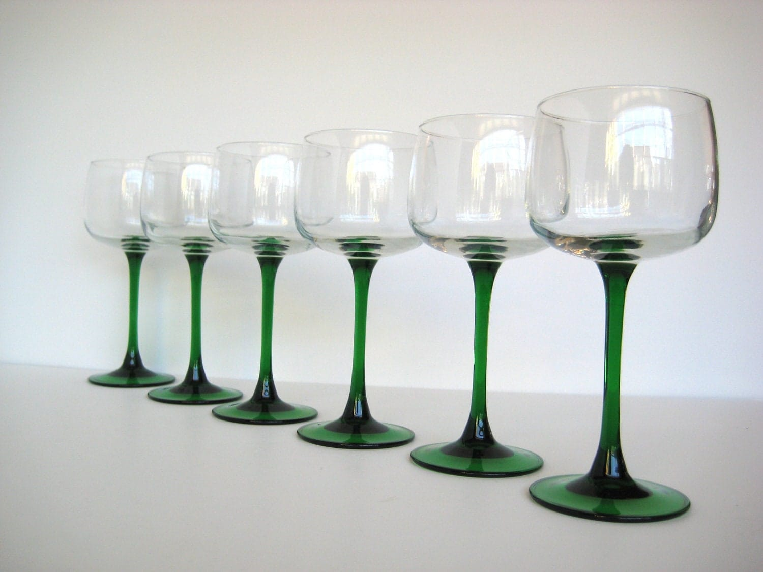 Green Stem Wine Glasses French Wine Glasses Set Of By