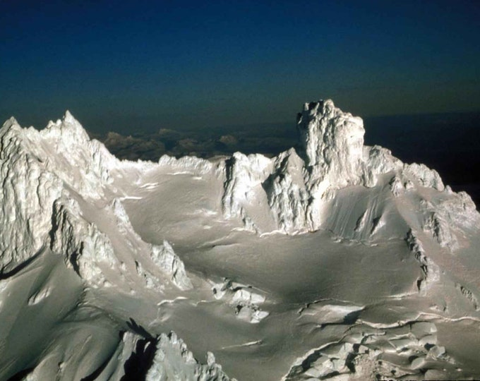 Isanotski Peaks Volcano Cross Stitch Pattern from a Vintage Photograph - Fiber Art