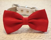 Red Dog Bow tie, Cute chic dog bow tie- Christmas, Valentine's Day, Wedding gift, Red Bow