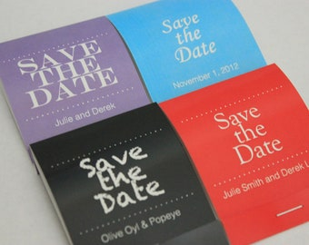125 Seed Matchbooks - Save the Date Wedding Favor of Forget Me Not Seeds