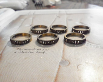 12 Brass Rings with 1mm Settings