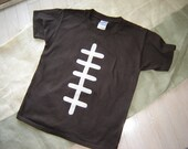 Custom Brown Football Youth Shirt - Fall - Sports