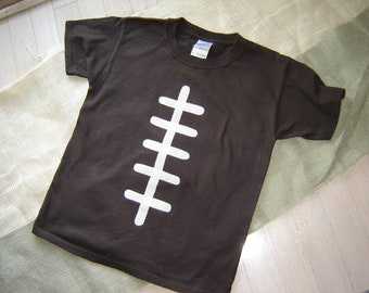 Custom Brown Football Youth Shirt - Fall - Sports