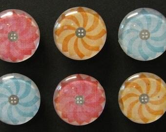 Geometric Flower Magnets