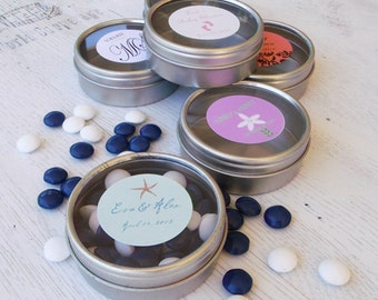 24 - Personalized Candy Tin Baby Shower Favor // Wedding Favor // Custom Favor