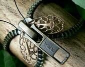Steampunk Moth Zipper Bracelet - Chain Cuff - Steampunk Jewelry