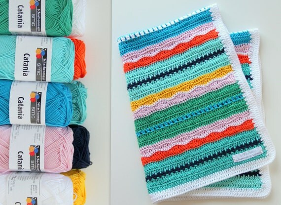 Knitting Kits For Throws : Crochet kit baby blanket pattern and yarn