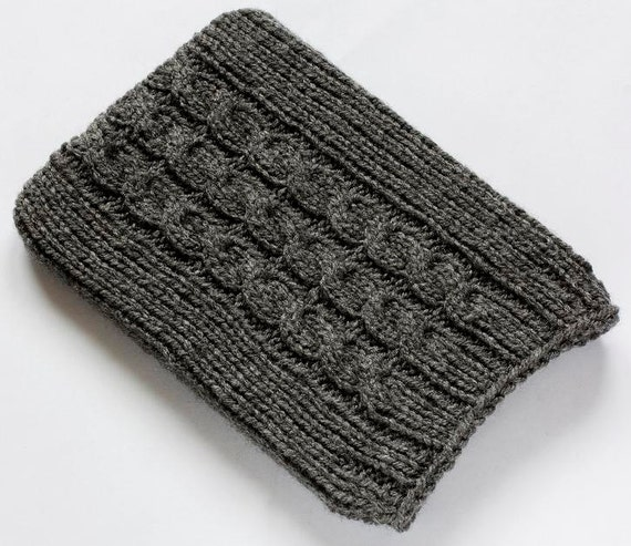 Kindle 5 Case, Dark Grey Kindle Paperwhite Cover, Kindle 4 Sleeve, Kindle Touch Sock, hand knitted cozy