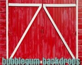 "Custom-Barn - 60"" x 60"" -Vinyl Photography Backdrop Prop"