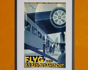 FLYG Airline Poster, 1932 - 8.5x11 Poster Print - also available in 13x19 - see listing details