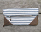 cotton and leather clutch - driftwoodandfossil