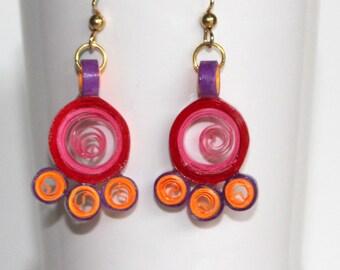 Paper quilled zumka earrings