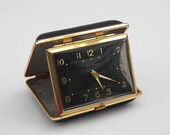 Vintage Seth Thomas Travel Alarm Clock- Desk Clock- Portable Retro Clock- Germany