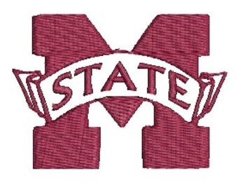 MS State, MSU Bulldogs Embroidery Design, Mississippi Bulldogs (52) Instant Download