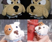 Buster the Bulldog Crochet Pattern ALL sizes... (Pattern includes Agressive version) Instant Download
