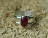 Ruby Ring with Sterling Silver