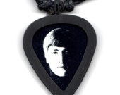 GUITAR PICK Necklace by Pickbandz pick holder in Black with Free Beatles Pick