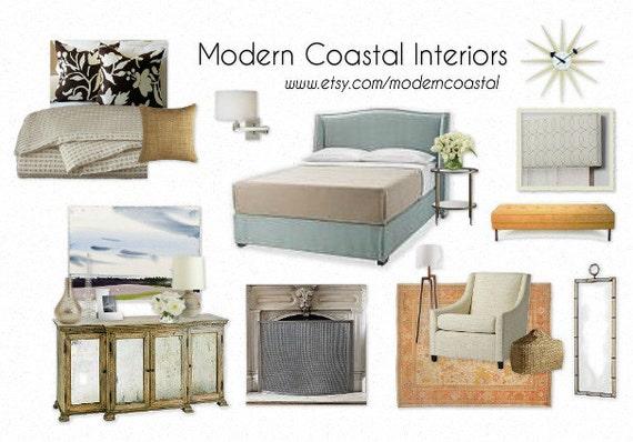 Custom styleboard moodboard coastal bedroom example for Best home decor pinterest boards