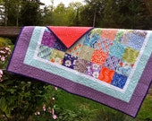 Good Fortune  Patchwork Baby Quilt