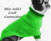 Vintage Classic Turtleneck Dog Sweater Coat 389 PDF Digital Knit Pattern