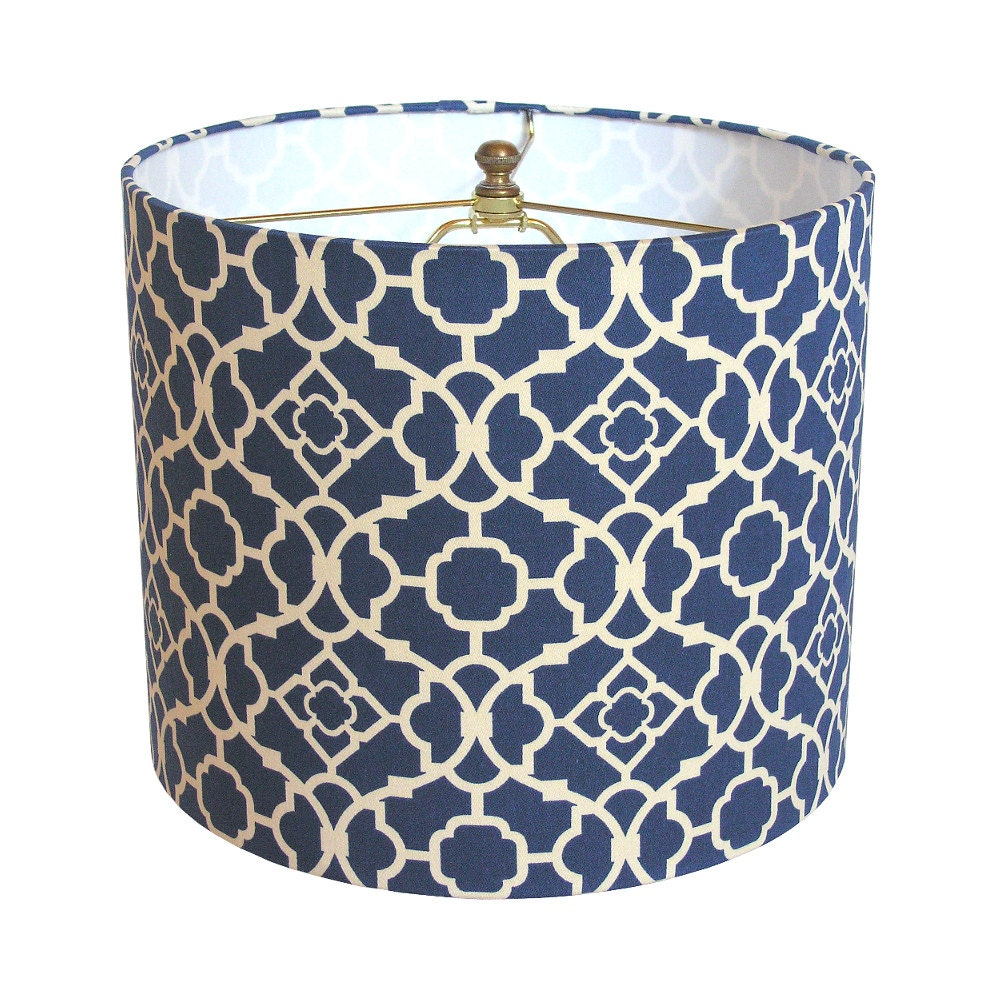 Lamp Shade Lampshade Lovely Lattice By Waverly Lapis Blue Made