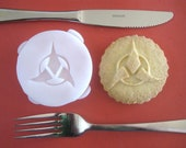 KLINGON inspired COOKIE STAMP recipe and instructions - make your own Star Trek inspired cookies