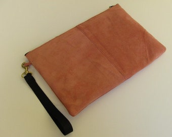 Pale Coral suede/Cowhide Purse